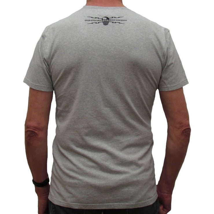 Petrolhead (Mens) Grey Marl T-Shirt