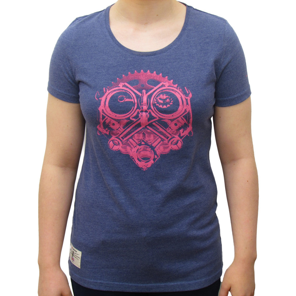 Petrolhead Ladies Blue Marl T-Shirt
