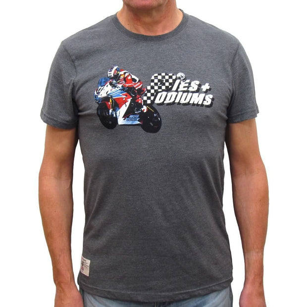 John McGuinness Pies and Podiums (Mens) T-Shirt