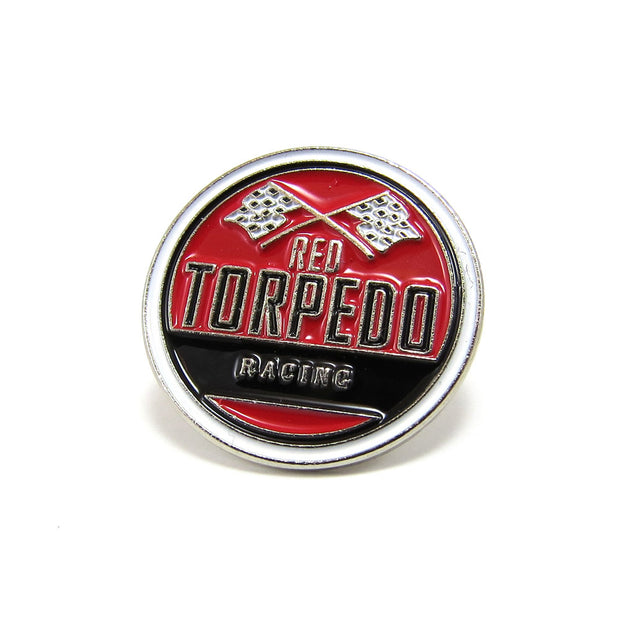 Red Torpedo Racing Pin Badge