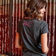 Red Torpedo Guy Martin 'Spannerrap' (Ladies) Graphite T-Shirt