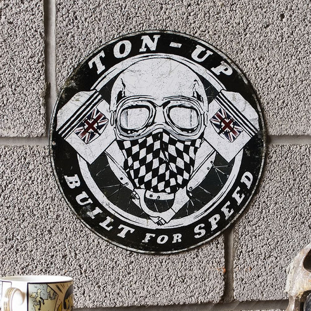Ton Up Clothing Garage Plate