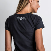 Guy Martin Spannerswarm Black (Ladies) T-Shirt