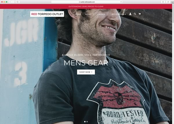 Shop Mens Gear at the Red Torpedo Outlet Store