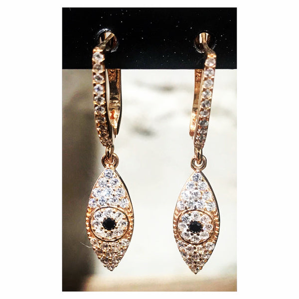 Mignonette Dangling Eye Earrings