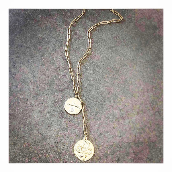 Kundalini Snake & Strength Link Chain Necklace