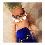 Cowrie & Gold Anklet