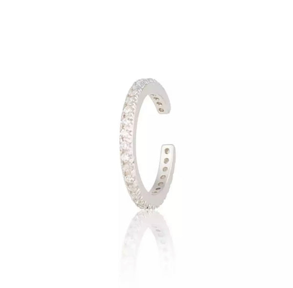 Large Pave Eternity Ear Cuff