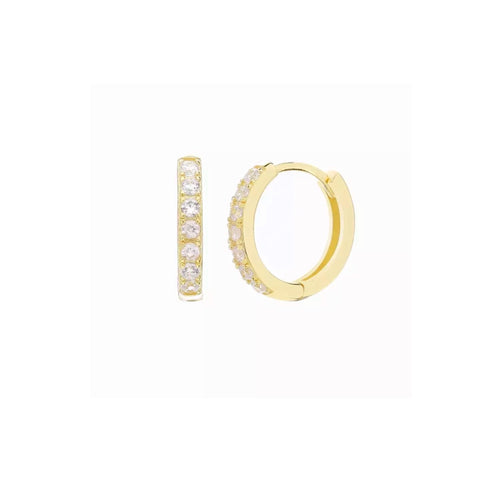 Eternity Medium Pave Hoop Earrings