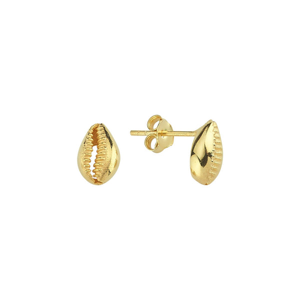 Mini Cowry Stud Earrings