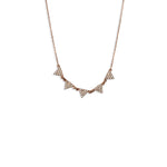 5 Small Pave Traingles Necklace