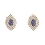 Agnes Pave Eye Stud Earrings
