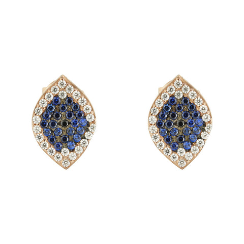 Mademoiselle Pave Eye Stud Earrings