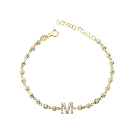 By the Yard Letter Name Bracelet