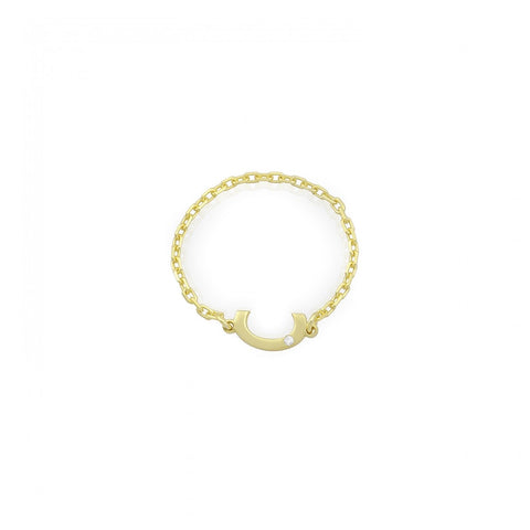 Letter Chain Ring