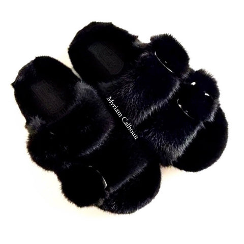 Black Arizona Slippers