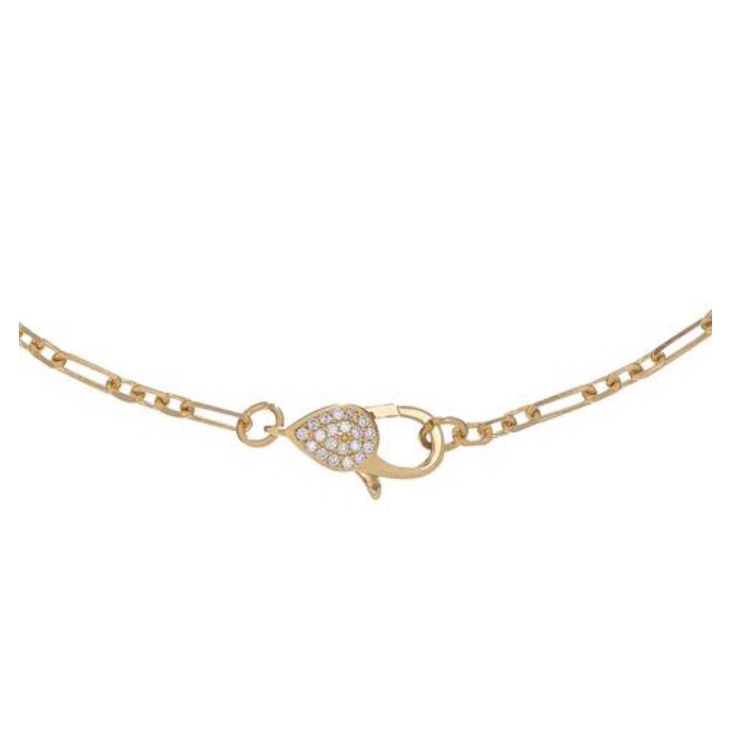 Pave Front Clasp Choker Necklace