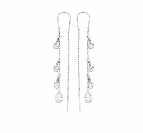 Pear Cluster Pull Through Earring
