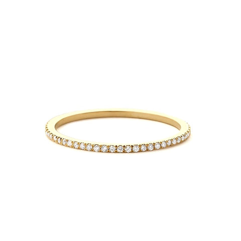 Pave Thin Eternity Band