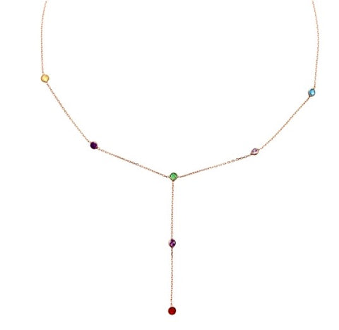 Lariat court multicolore