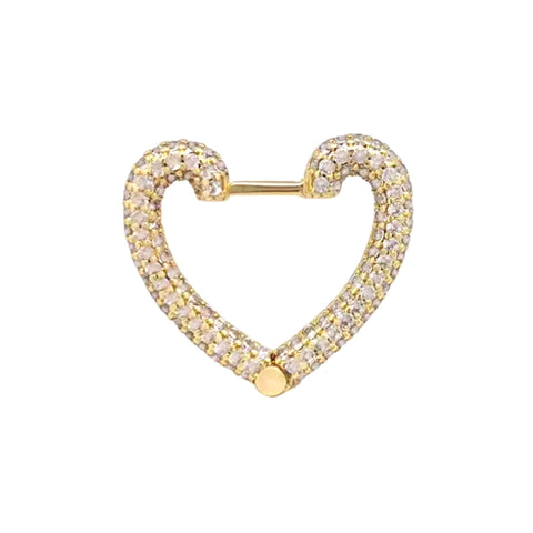 SALE Oversize Pave Heart Earring
