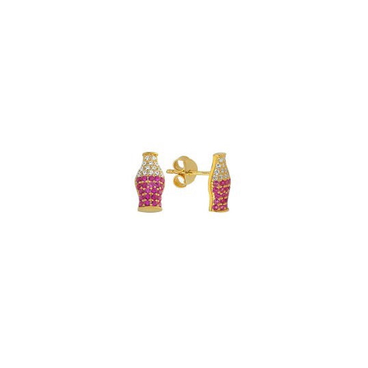 Mini Soda Bottle Stud Earring