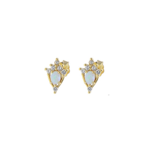 Magic Wand Style Opal Stud Earrings