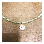 Aqua Mix Pearl with Stud Custom Beaded Necklace