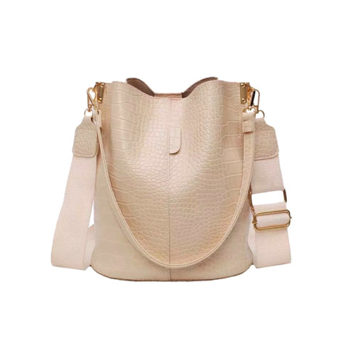 Alligator Style Bucket Bag