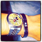 Montre Mickey Mouse Rolex Style 35mm 2 Tones