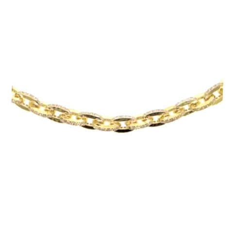 Pave Cable Chain Choker Necklace