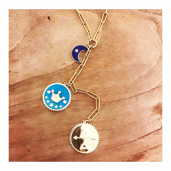 Dreams/Fortune/Strength Enamel Charms Custom Necklace