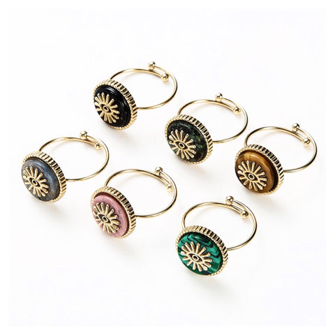 SALE Gem Eye Adjustable Ring