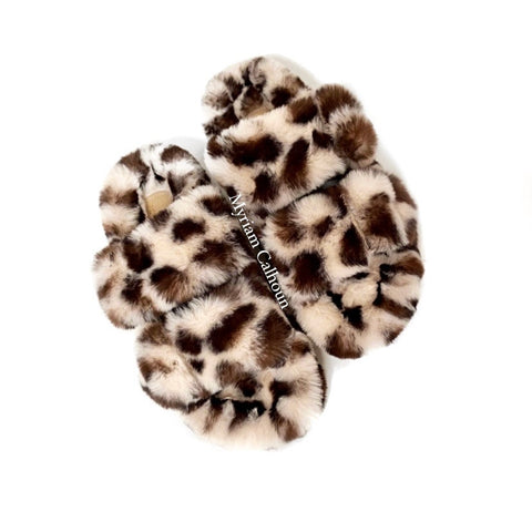 Cream Leopard Arizona Vegan Slippers