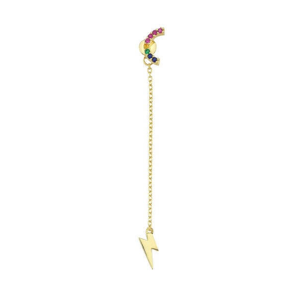 Rainbow Arch + Dangling Bolt Earring