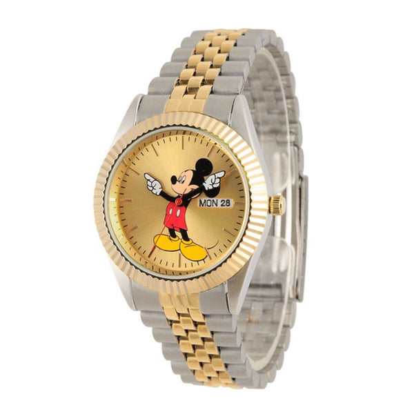 Mickey Mouse Rolex Style 35mm 2 Tones Watch