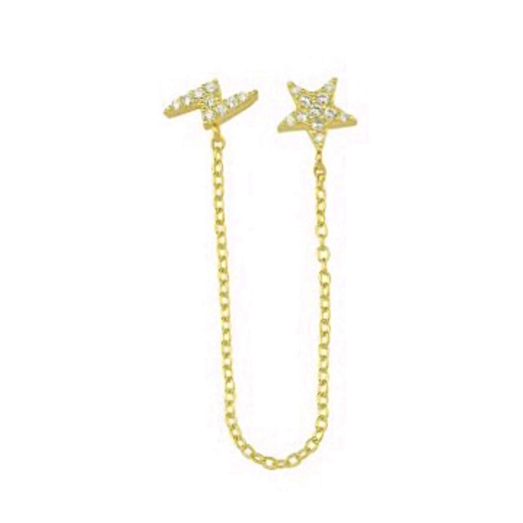 Hook Me Up Bolt & Star Studs Earring