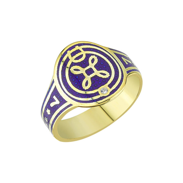 Enamel True Love Cigar Band Ring