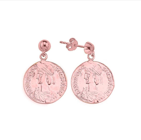 SALE Vintage Coin Earrings