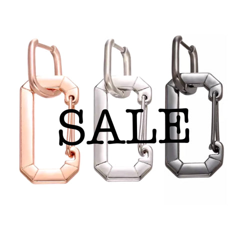 SALE All Metal Snap Hook Earring