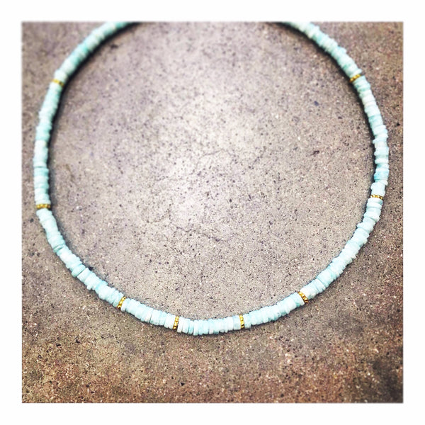 Peruvian Opals Custom Beaded Necklace