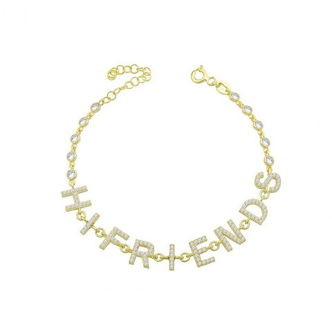 By the Yard Pave Name Bracelet