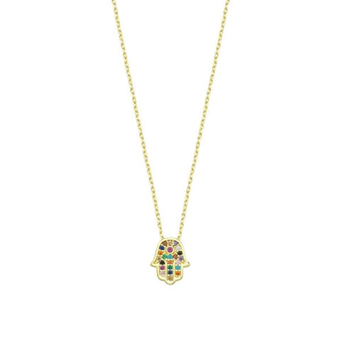 SALE Pave Small Hamsa Necklace
