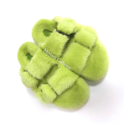 Lime Arizona Slippers