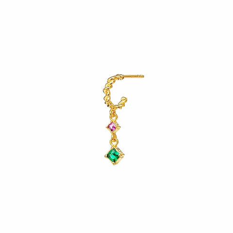 2 Colors Ethnic Vibe Stud Hoop Earring