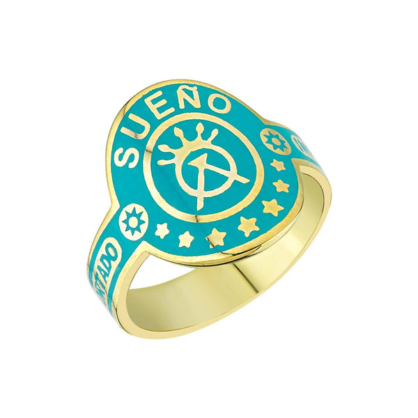 Enamel Sueño (Dream) Cigar Band Ring