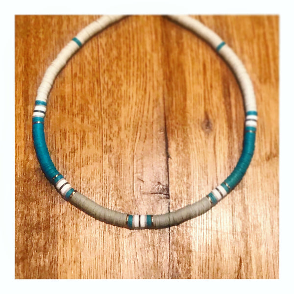 Dolphins Mix Custom Beaded Discs Choker Necklace