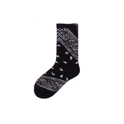 High Rise Bandana Socks