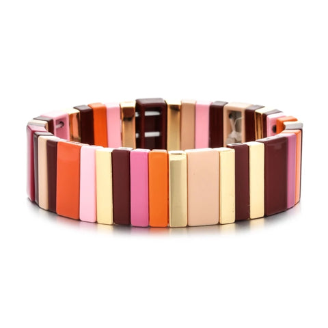 SALE Wide Enamel Tile Bracelets
