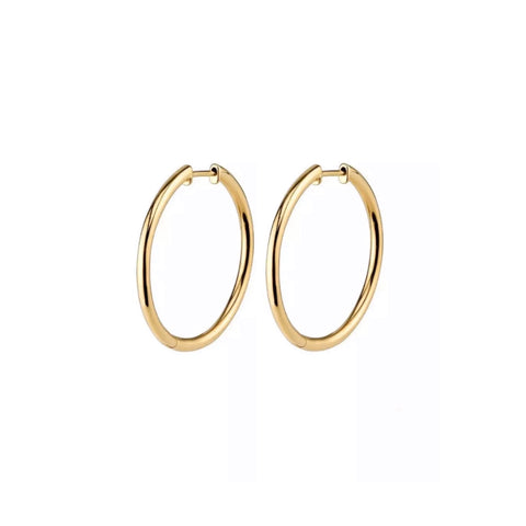 Thin Clicker Hoop Earrings